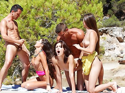Watch college sex party by the sea